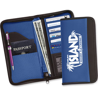 Most popular blue travel document holder for the better client. Ticket holder, passport holder, upscale travel document holder