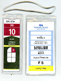 cruise luggage tag for royal caribbean and carnival.  Clear plastic cruise luggage tag, cabin tags